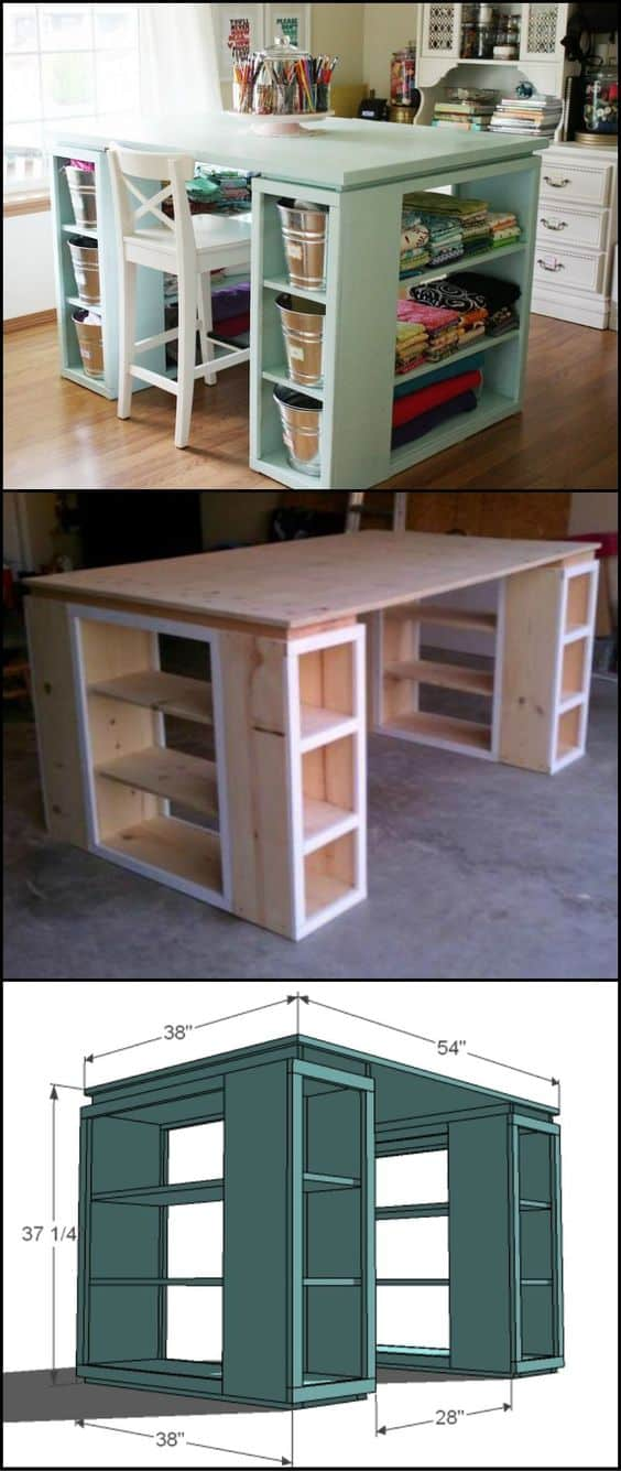 91. CUSTOMIZED TABLE FOR STORAGE