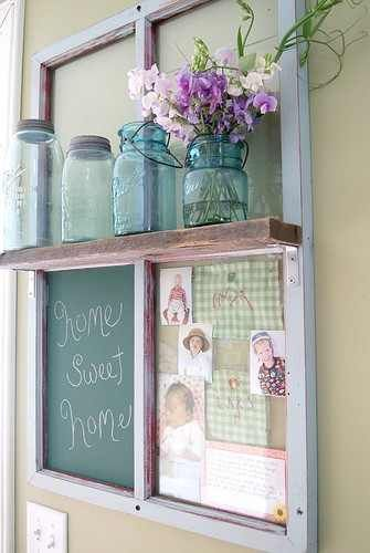 11. SHAPE A DIFFERENT SHELF WITH AN OLD WINDOW