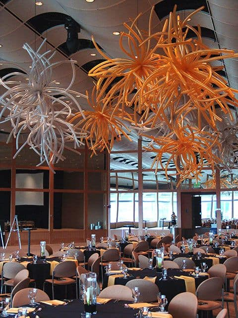 Wedding Ceiling Decorations 51 Best  use linear balloons