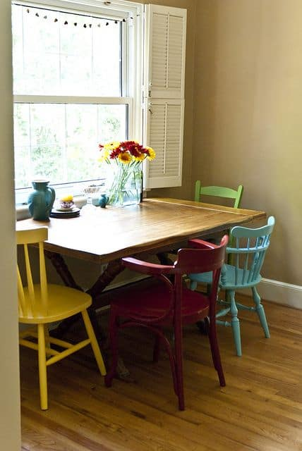 kitchen chairs painted different colors 23 spectacularly inspiring mismatched dining chairs 8210