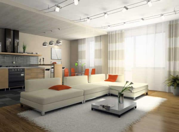 Contemporary-living-room-with-creative-lighting