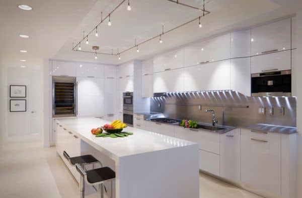Cool-track-lighting-installation-above-the-kitchen-island-is-a-perfect-choice