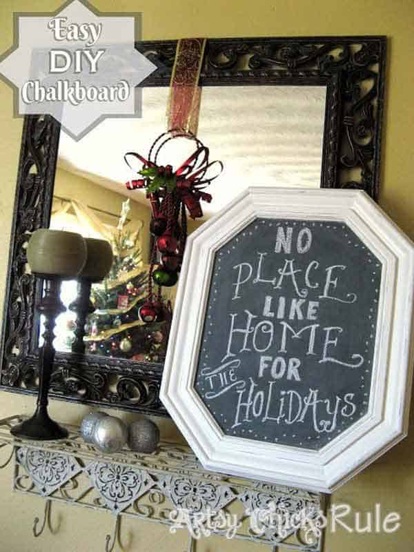 23. EASY AFFORDABLE DIY CHALKBOARD