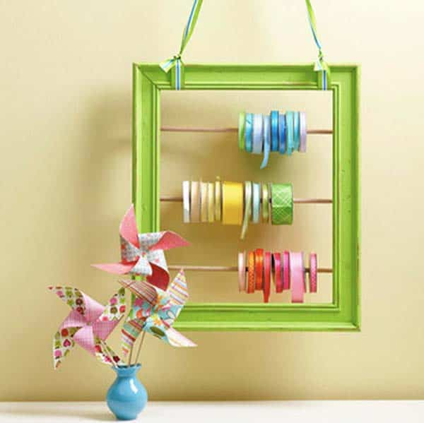 45. ORGANIZE YOUR RIBBONS AND WASHI TAPE