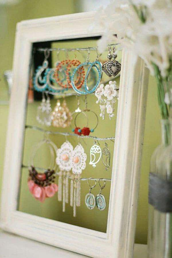 12. USE A PICTURE FRAME AS AN ORGANIZER