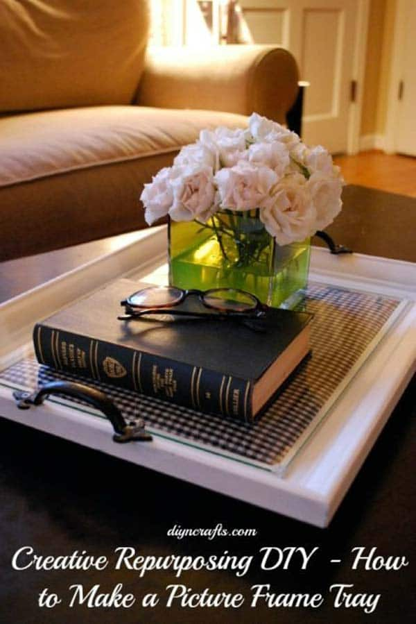 19. CREATE A COFFEE TABLE TRAY
