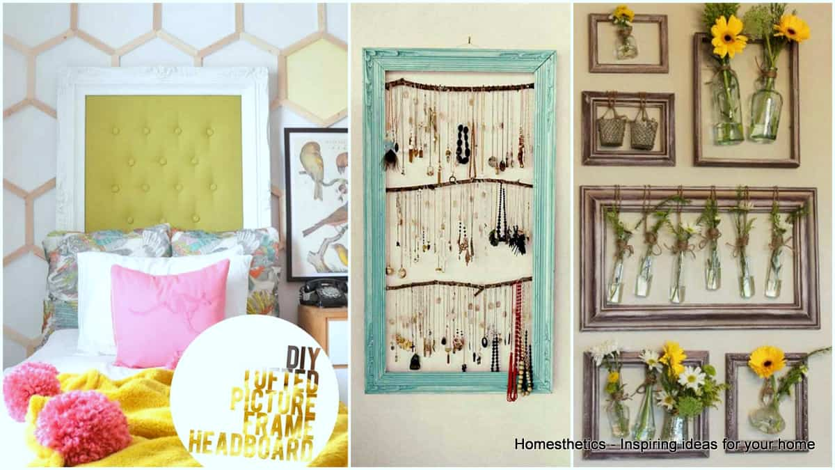 47 epic ways to repurpose old picture frames at home jeuxipadfo Gallery