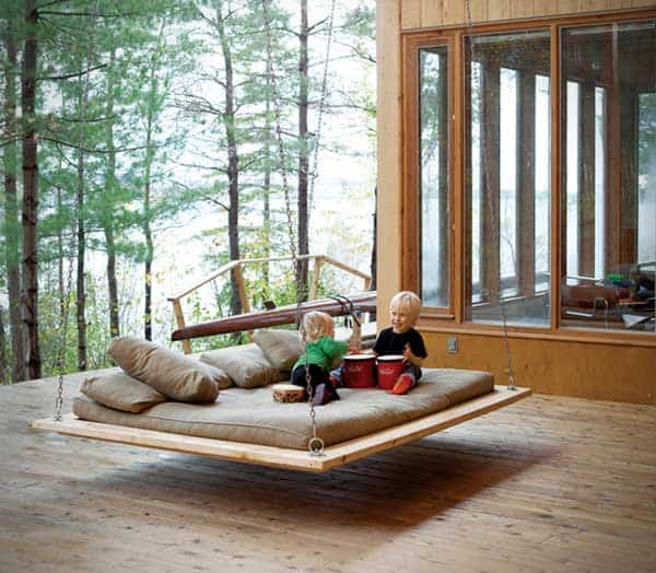 Hanging-Bed-Ideas-Summer-floating deck bed