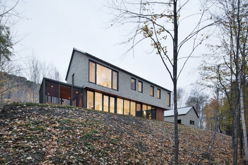 KL House Cedar Inside Out in Quebec Home Canada 1