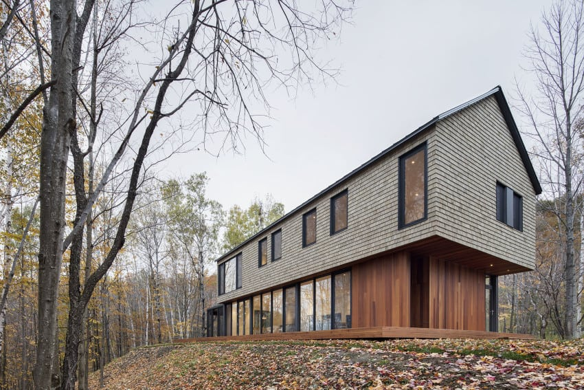 KL House Cedar Inside Out in Quebec Home Canada 2