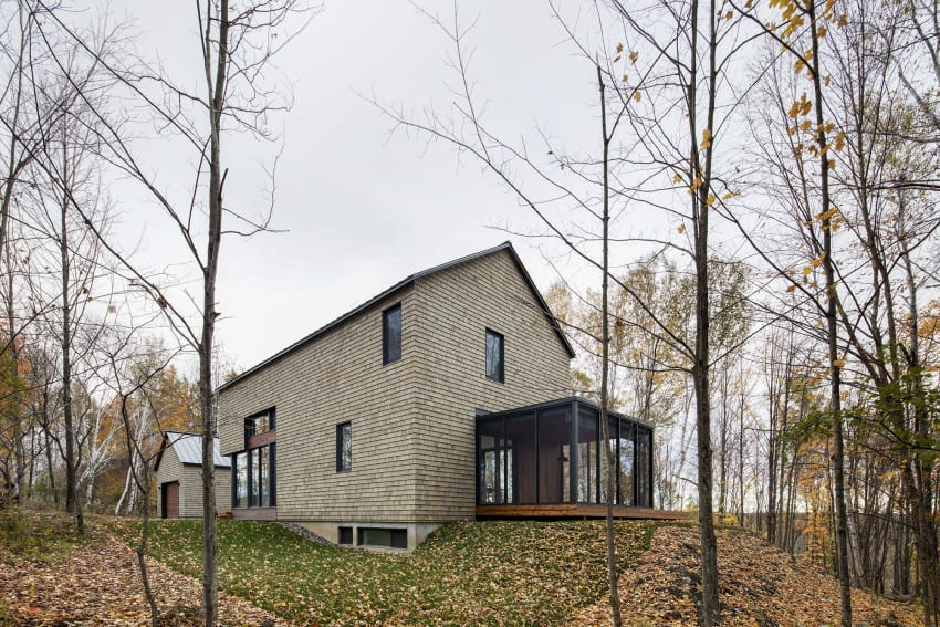 KL House Cedar Inside Out in Quebec Home Canada 4