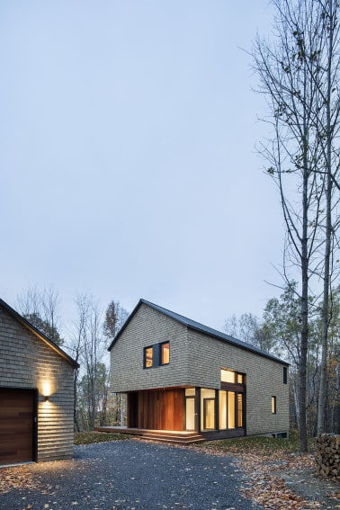 KL House Cedar Inside Out in Quebec Home Canada 5