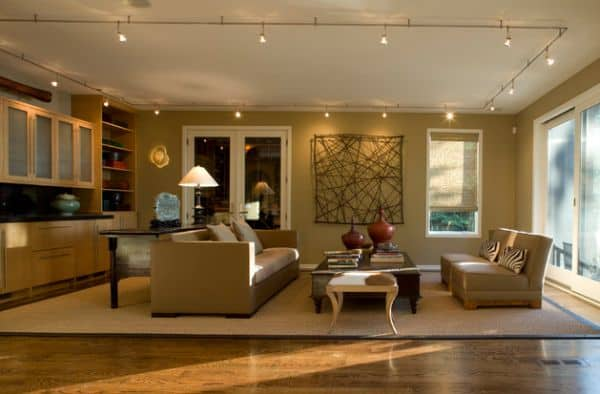 Lighting-in-multiple-directions-achieved-using-track-lighting-in-this-living-space