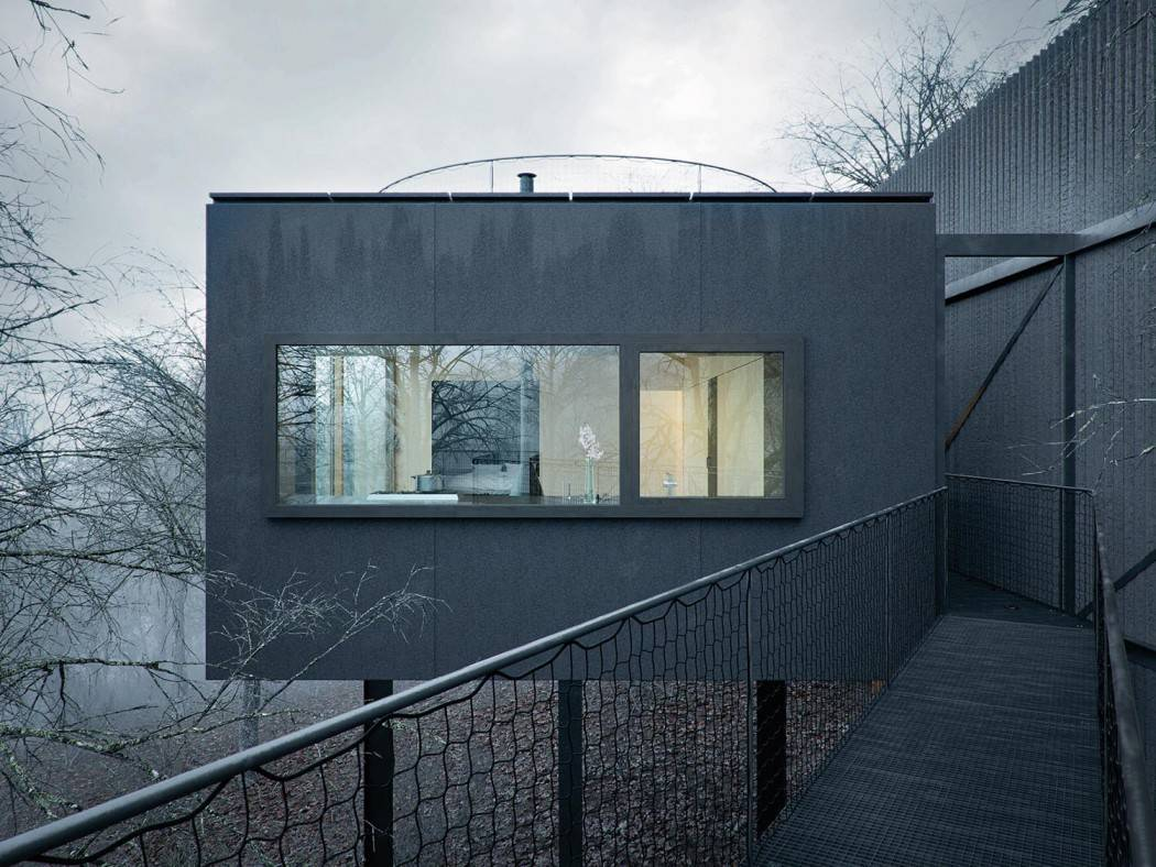 Mask House Designed by WOJR in Ithaca New York 1