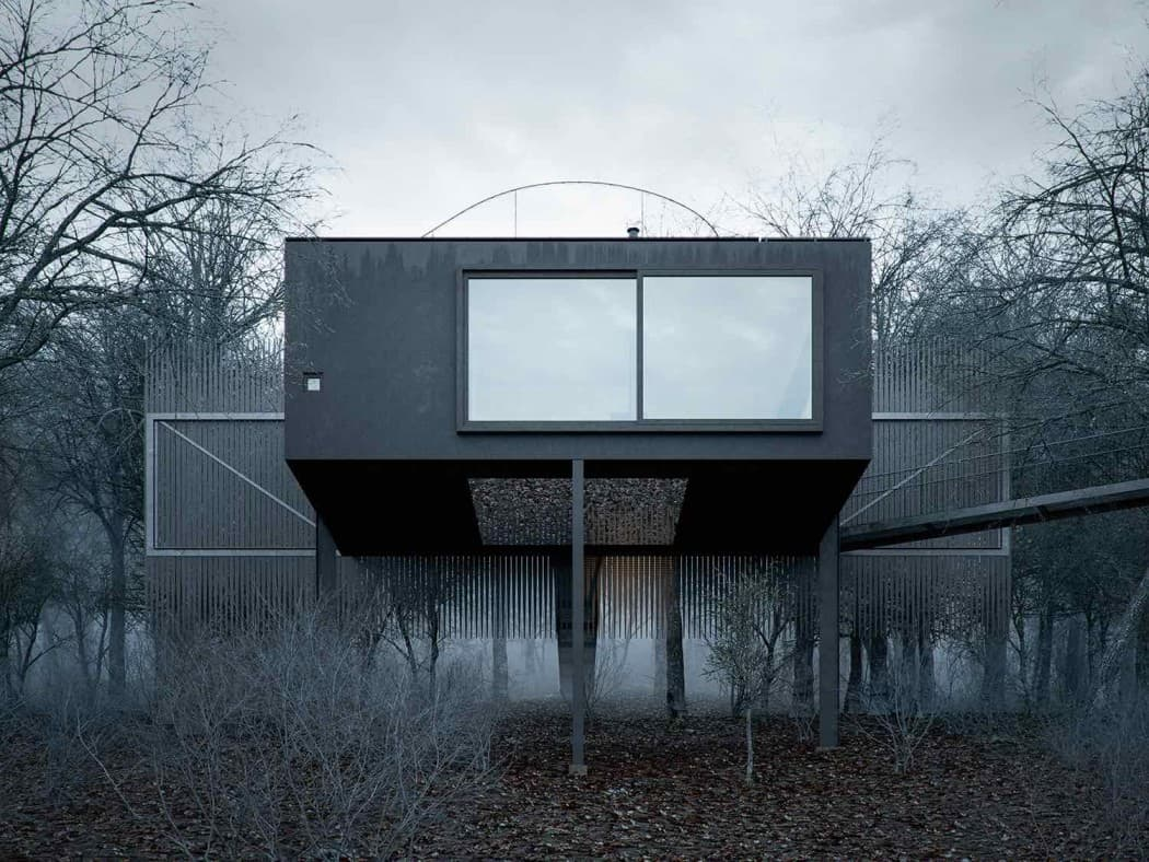 Mask House Designed by WOJR in Ithaca New York 3