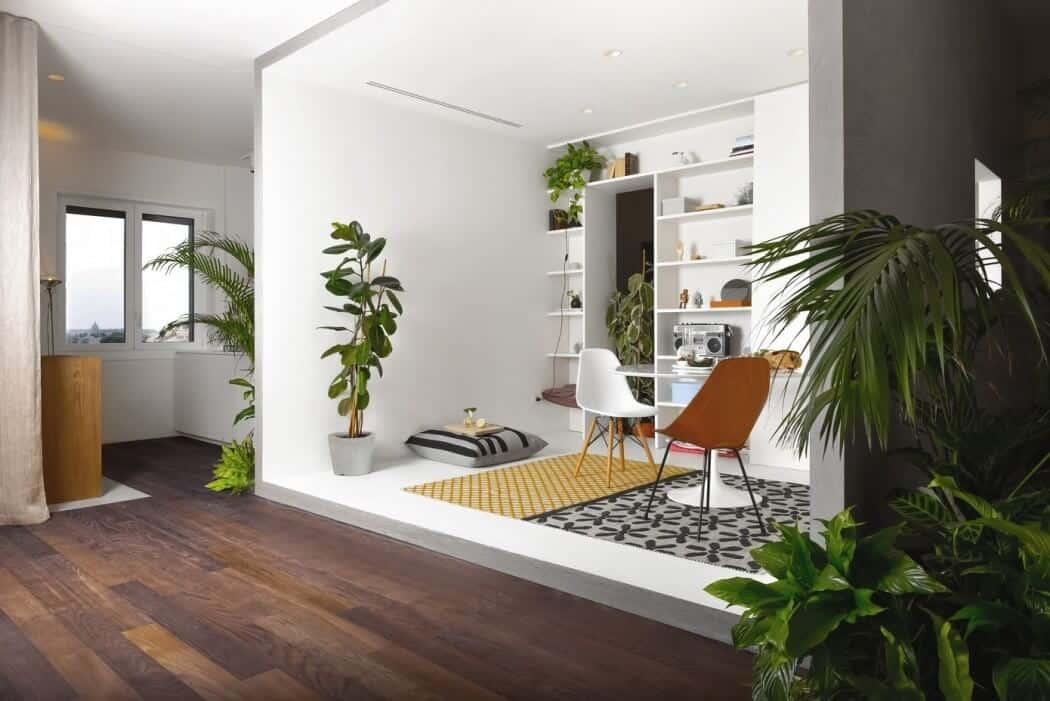 Modern Flat Filled With Greenery In Milan homesthetics 9