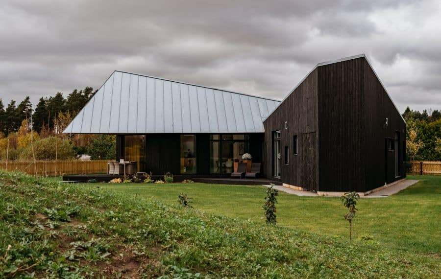 Sculptural Geometry Shapes a Wood Modern Residence in Estonia 10