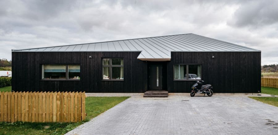 Sculptural Geometry Shapes a Wood Modern Residence in Estonia 11