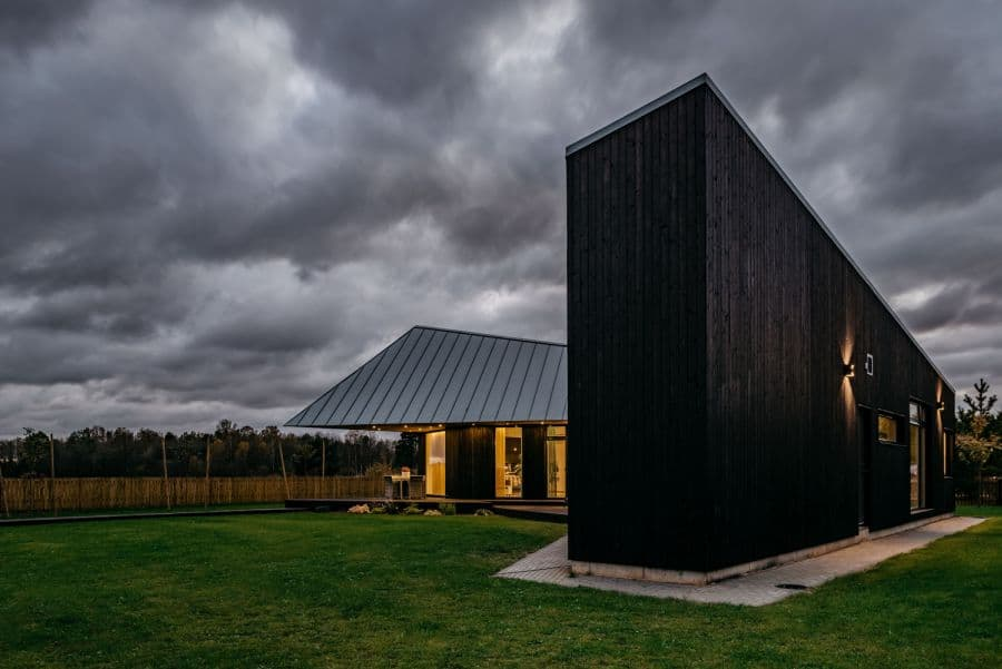 Sculptural Geometry Shapes a Wood Modern Residence in Estonia 3