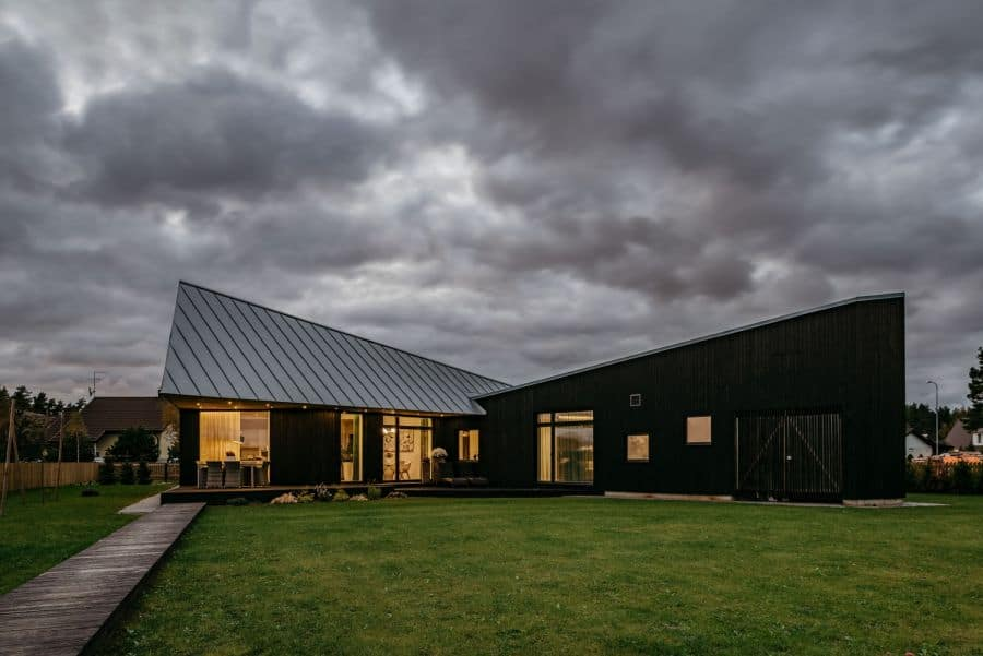 Sculptural Geometry Shapes a Wood Modern Residence in Estonia 6