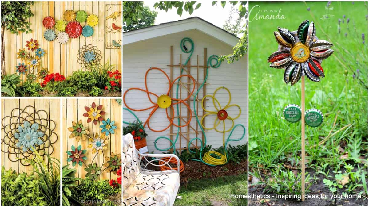 Simple Low Budget Diy Garden Art Flower Yard Projects To
