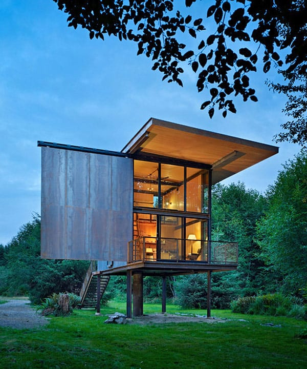 Sol Duc Cabin Epic Steel Clad Fishing Cabin Designed by Olson Kundig Architects 1 1