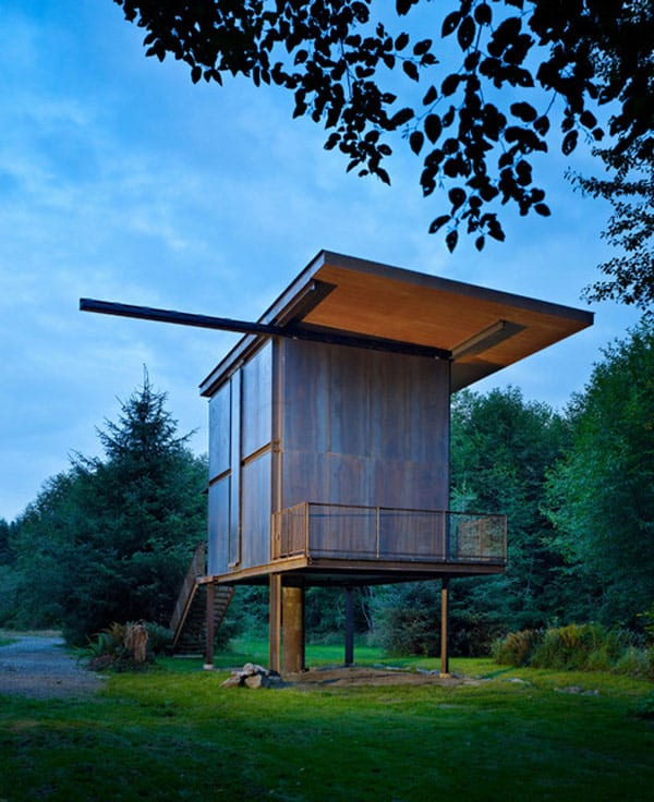 Sol Duc Cabin Epic Steel Clad Fishing Cabin Designed by Olson Kundig Architects 1 2