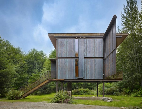 Sol Duc Cabin Epic Steel Clad Fishing Cabin Designed by Olson Kundig Architects 1 3