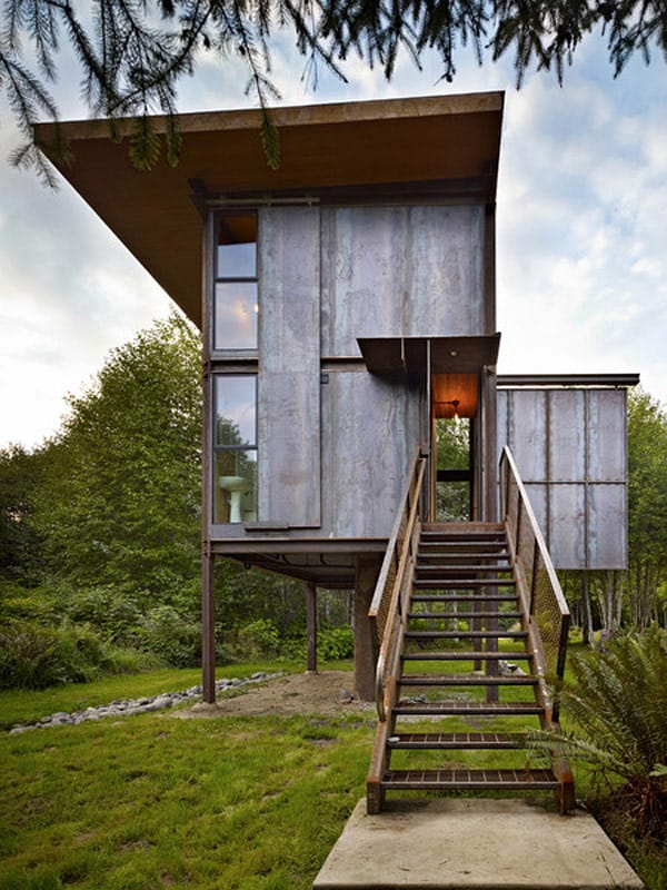Sol Duc Cabin Epic Steel Clad Fishing Cabin Designed by Olson Kundig Architects 1 4