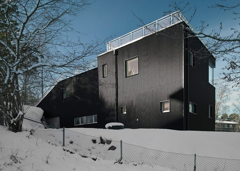 Swedish Home With a Sled Hill Roof by Street Monkey Architects 1