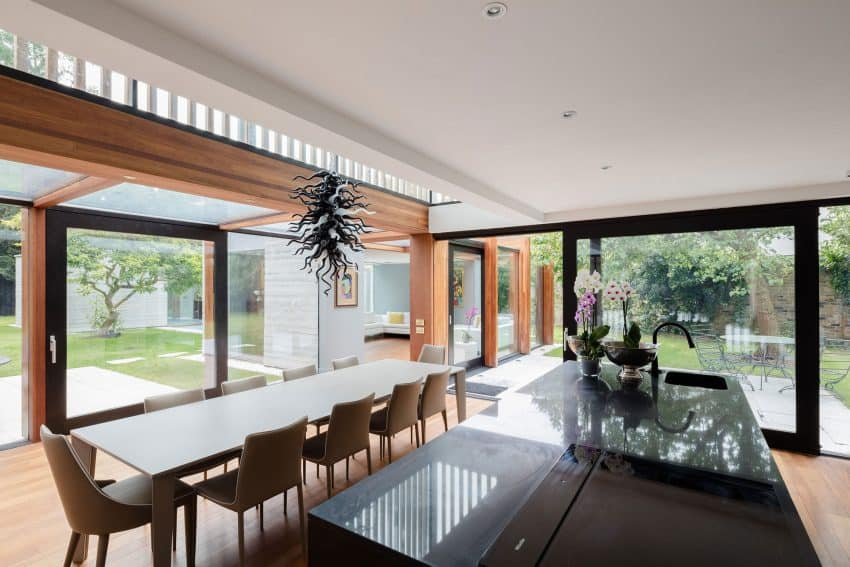 The Contemporary Extension of a Charming Cottage in England 11