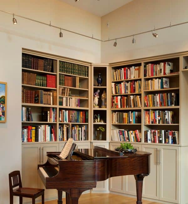 Track-lighting-is-an-ideal-way-to-light-up-home-libraries-and-bookshelves