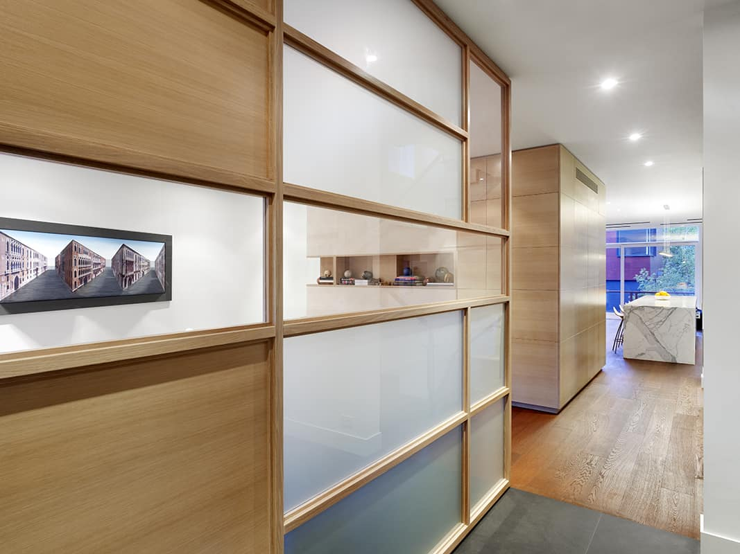 Wooden Functional Room Divider Sculpts Epic Toronto Home 10