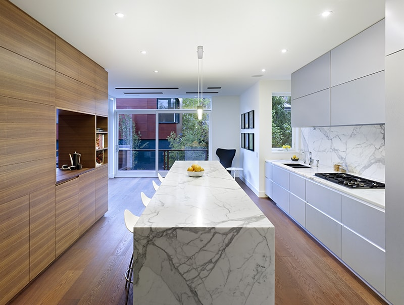 Wooden Functional Room Divider Sculpts Epic Toronto Home 11