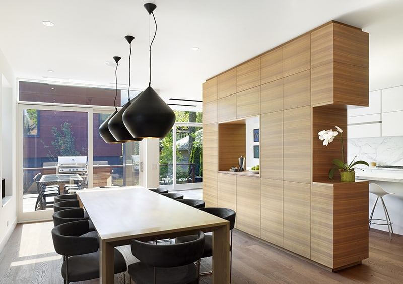 Wooden Functional Room Divider Sculpts Epic Toronto Home