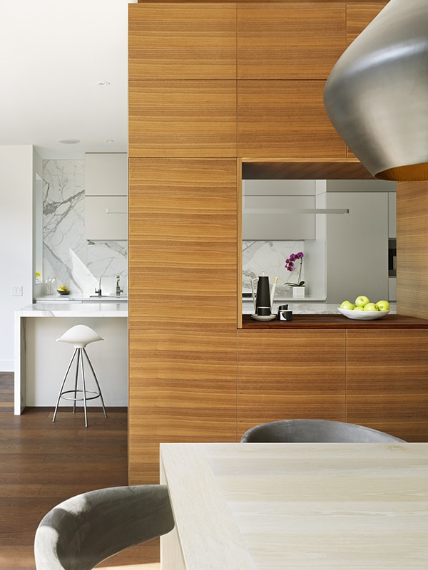 Wooden Functional Room Divider Sculpts Epic Toronto Home 15
