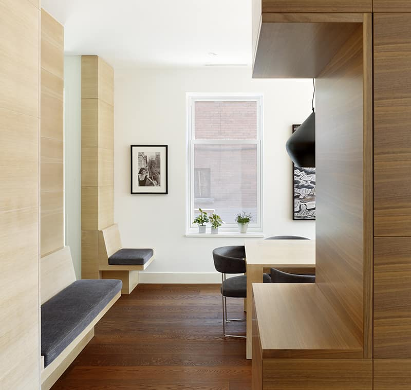 Wooden Functional Room Divider Sculpts Epic Toronto Home 16