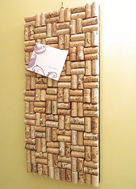 7. USE WINE CORKS WITH A COOL PATTERN AS A BOARD