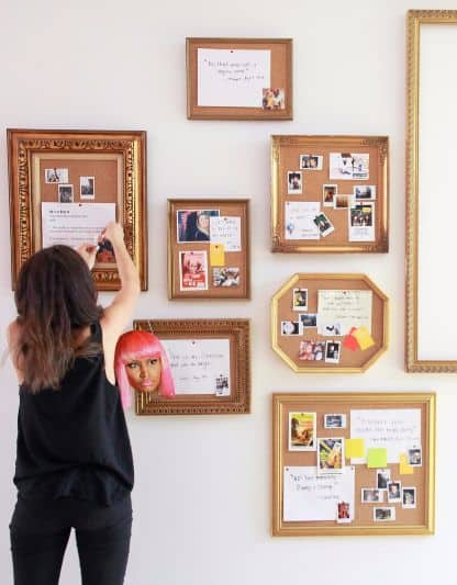 A Composition Of Framed Cork Boards Can Be Used To Create Wall Art These Nestle Diffe Activities Hobbies Organized Or Simply The Days