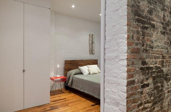 brick in white and red in modern design