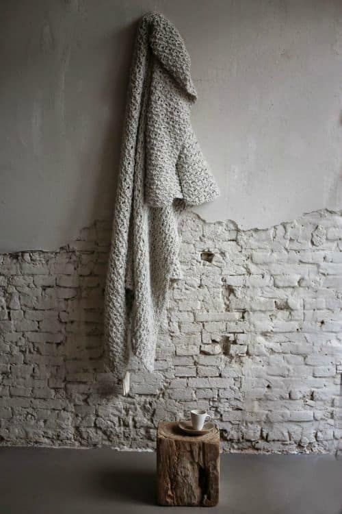 natural material on distressed background with painted bricks