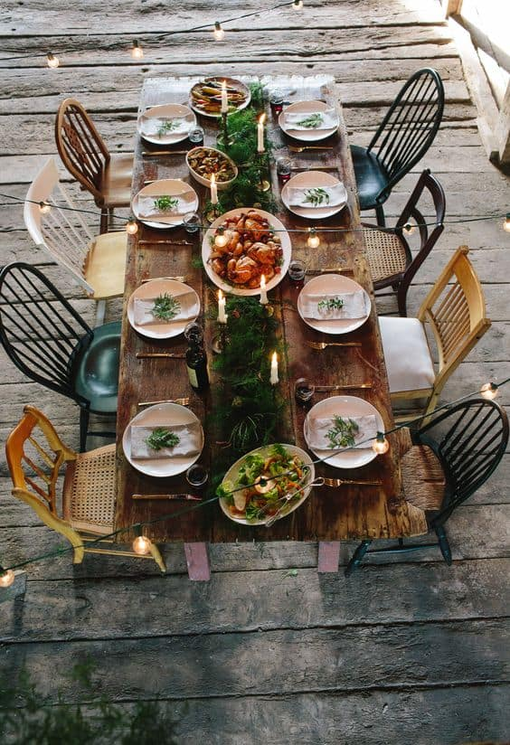 2. RUSTIC GATHERING OF CHAIRS