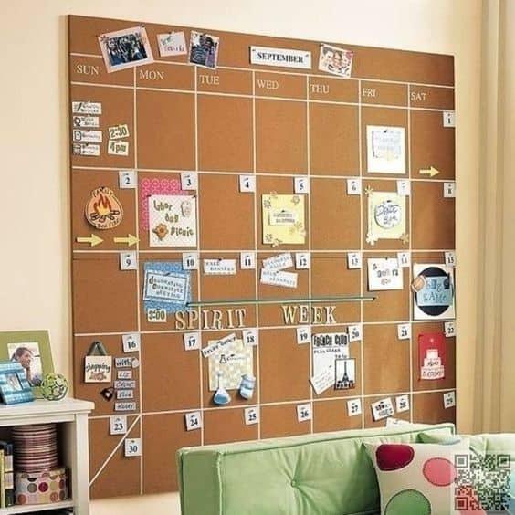 Luxury A sufficient cork board can offer you the chance to get organized in a graphic and practical manner pin your tasks everyday for a month pin pictures that