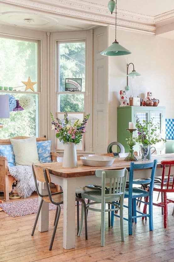 dinning chairs with 8. SHABBY CHIC COLOR PALLET