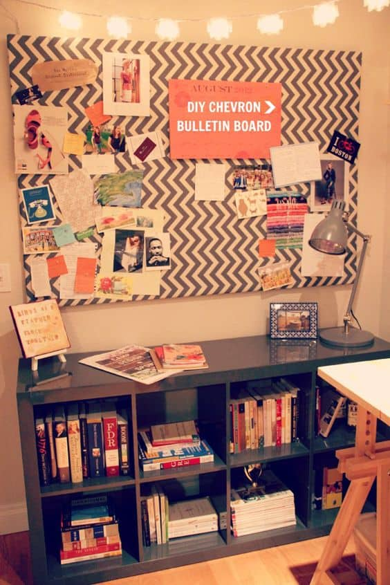 1. Chevron Pattern Embracing A Cork Board