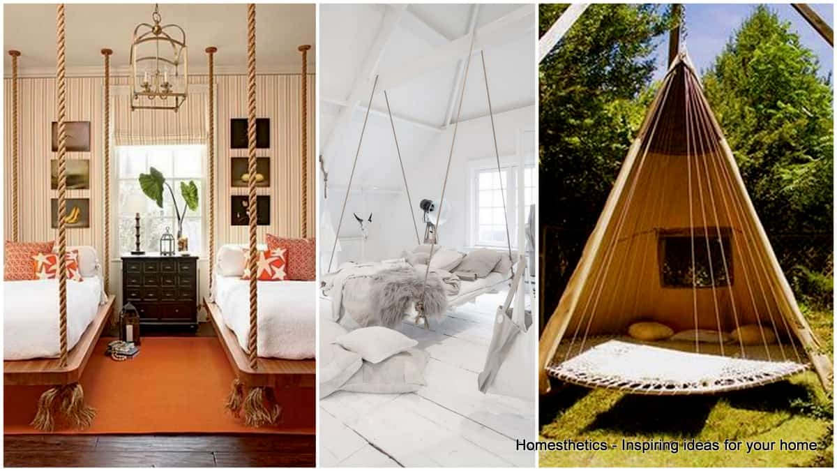 37 Smart Diy Hanging Bed Tutorials And Ideas To Do Homesthetics