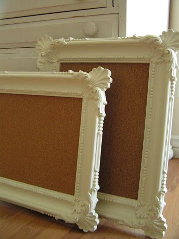 9. LUXURIANT ELEGANT FRAME AND SIMPLE CORK BOARD