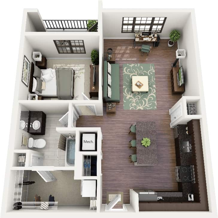 Studio 1 Bedroom Apartments: What Is The Difference Between Studio Apartment And One