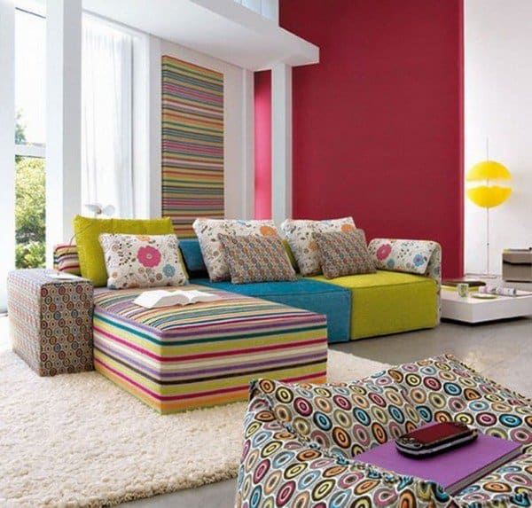 COLOR MATCHED WITH GREAT PATTERNS Floor Sofa