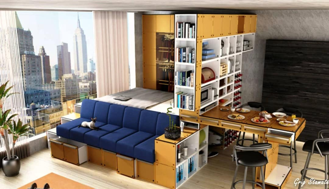 small-studio-apartment-platform-storage-bed